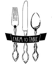 NEW Magnolia Design Co Farm to Table Reusable Adhesive Silkscreen Stencil