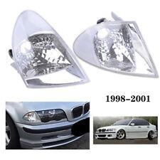 Clear Corner Parking Signal Lights for 1999-2001 BMW E46 3-Series Sedan LH+RH