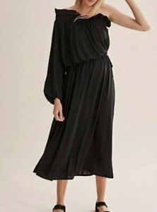 BNWT COUNTRY ROAD DRESS Size 10,12,14, S,M,L Black ONE Shoulder RP$159 CR NEW