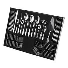 More details for 60 piece stainless steel cutlery set stylish dining knife spoon fork & teaspoons