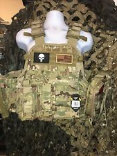 """Rothco Multicam 10""""x12"""" Steel Plates AR500 With All Molle & Side Plates"""