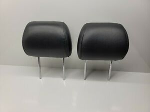 2004-2009 LEXUS RX330 RX350 RX400H Front Black Leather Headrests Left & Right