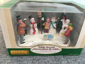 Lemax Christmas Village - Snowman Contest BNIB 2006 Retired 63570