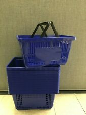 "Shopping Baskets ""Jumbo Size"" Set Of 12 Blue"