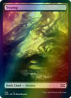 1 Set of 2 *FOIL* Custom Full Art MTG Swamp Basic Land Set2