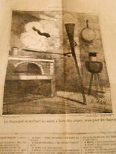 Litho Caricature 1869 - Le Fusil Chassepot se mettant a faire des Crêpes