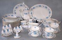 ROYAL ALBERT ' WINDSOR ROSE '  TEA SET AND TABLEWARE - ENGLISH BONE CHINA