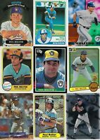 HUGE PAUL MOLITOR BASEBALL CARD LOT - MILWAUKEE BREWERS - HALL of FAMER