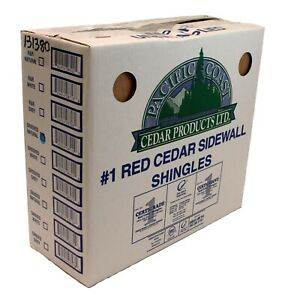 """#1 18"""" Western Red Cedar Shingles (Grooved, KD, Rebutted & Resquared)"""