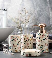 2020 NEW 4pcs Morden Ceramic Bathroom accessory set Soap Dish Dispenser Tumblers