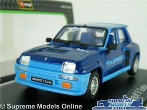 RENAULT 5 TURBO MODEL CAR 1:32 SCALE BLUE BURAGO 70'S/80'S HOT HATCH K8