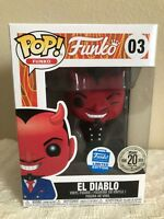 Funko Pop 20 Years Funniversary EL DIABLO Funko Limited Edition Black Suit NEW