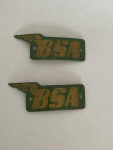 Pair BSA tank badges - Unused, new old stock