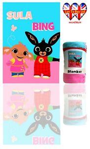 Bing Sula Blanket,Soft Touch Polar Fleece Blanket, Official Licenced(100x140cm)