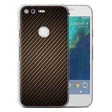 STUFF4 Phone Case/back Cover for Huawei Nexus 6p /carbon Fibre Effect/pattern Gold