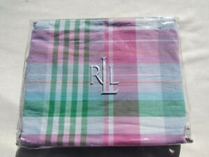 NWT Ralph Lauren University Caitlin Pink Multi Plaid Twin Bedskirt
