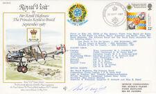 RV2b Royal Visit by HRH Princess Royal to Brazil, Flown Signed Co pilot