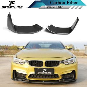 Carbon Splitter Flaps Front Spoiler Lippe Passt für BMW F80 M3 F82 F83 M4 14-17