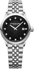 NEW Raymond Weil Women's 5629-ST-20081 Freelancer Diamond Watch NO RESERVE