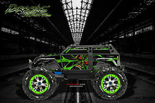 "TRAXXAS SUMMIT GRAPHICS WRAP DECALS ""THE DEMONS WITHIN"" FOR OEM BODY PARTS GREEN"