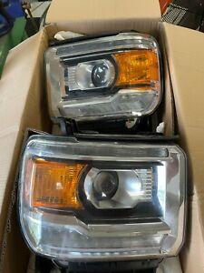 2014 - 2015 GMC Sierra 1500 HID Retrofit Headlights D2S Morimoto Switchback USED