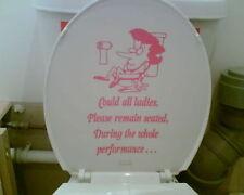 Mesdames Toilettes Autocollant, Voiture Maison, toilette camervan, camping-car, caravane, bateau