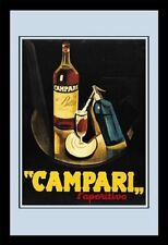 Campari Bitter Nostalgie Barspiegel Spiegel Bar Mirror 22 x 32 cm