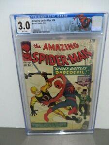 Amazing Spider-Man #16 CGC GD/VG 3.0 White Pages Battles Daredevil!