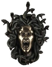 Veronese Bronze Figurine Greek Mythology Medusa Gorgon Wall Hanging Art Statue