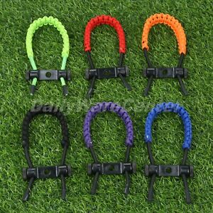 Archery Bow Wrist Sling Braided Nylon Cord Rope Strap Adjustable Compound Bow
