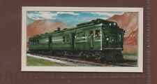 #9 Gas-Electric Train New Haven Railroad - Trains of the World Trade Card