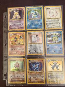 Complete Pokemon Base Set 102/102 WOTC Card Set LP to Mint, Charizard, PSA ready