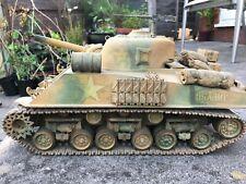 Tamiya Vintage 56001 M4 Sherman 1:16 Tank Original release, nice build.