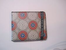 Captain America Civil War Marvel Comics Shields Buckle Down Bifold Wallet 0041