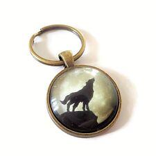 Wolf inspired 25mm glass dome keyring teen wolf jacob werewolf fandom gift UK