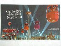 1962 SEATTLE WORLD'S FAIR vintage brochure UNION 76 SKYRIDE oil and gas company