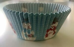 Christmas Snowman Baking Cups - Pack of  50 Patty Pans Cupcake Papers Xmas