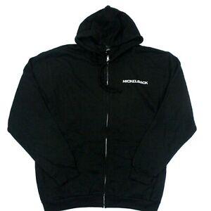Nickelback 2017 Feed The Machine Full-Zip Hoodie Tultex Sweatshirt - Black - L