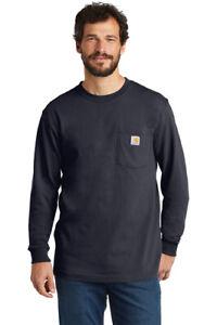 New Men's Carhartt Work Shirt Workwear Tee Pocket Long Sleeve T-Shirt