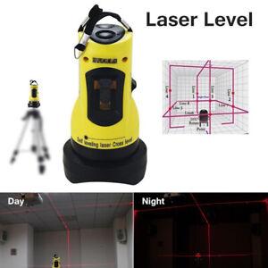Magic 360° Degree Rotary Laser Level Self-Levelling Cross Line Measuring 2021 cg