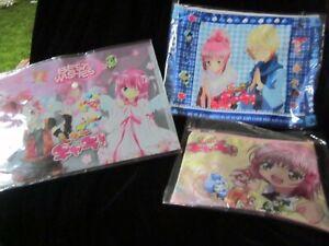 Shugo Chara file folder and pouches shoujo shojo anime manga lot