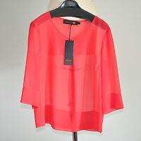 Minx   Gr 40  Transparentes  Oberteil  Shirt  OFOR60  Rot  NEU