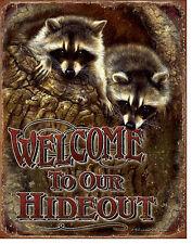 Waschbaer Tierschutz  Poster Deko Zoo Schild *163