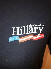 Hillary Clinton for President 2016 Campaign Women's T-shirt Navy NWOT Sz L