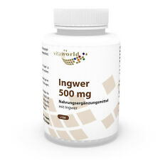 Vita World Ingwer 500mg + Vitamin B1 B2 B6 120 Vegi Kapseln Made in Germany