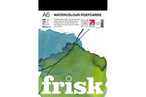 Frisk Watercolour Postcard Pad 300gsm A6 NOT 12s