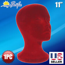STYROFOAM FOAM MANNEQUIN HEAD BURGUNDY wig DISPLAY HAT CAP WIG HOLDER FOAM HEAD