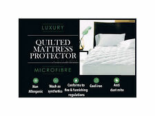 Double Size Quilted Mattress Protector Sheet Matress Cover Machine Washable Gift