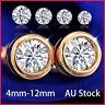 24K Gold GF CT LAB Diamond Studex MENS LADIES GIRLS KIDS STUD EARRINGS XMAS GIFT