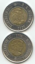 Canada 2005 2006 Toonie Canadian $2 Dollars Twoonie Toony Two Dollar EXACT COINS